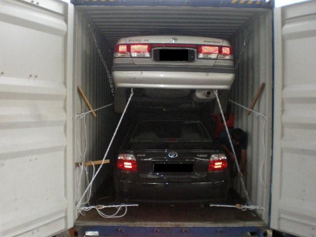 how to put a car in a container